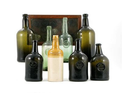 Valuable wine bottles