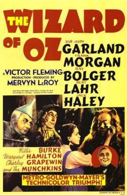 An original film poster for the Wizard of Oz