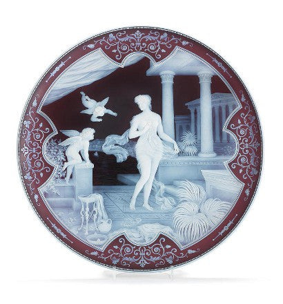 George Thomas Woodall The Attack glass cameo