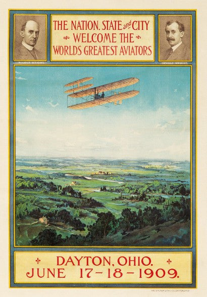 Wright Brother 1903 aviation poster memorabilia auction