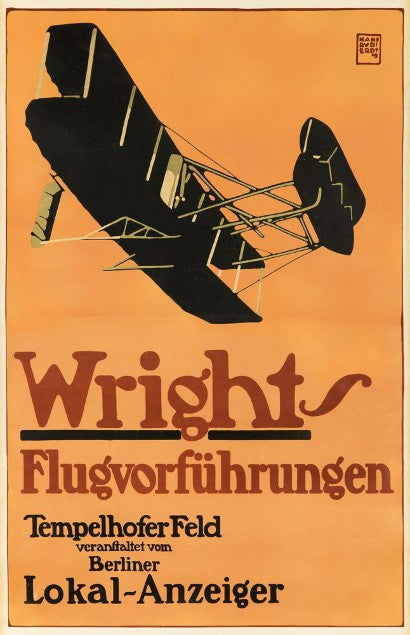 Wright Brother aviation poster rare