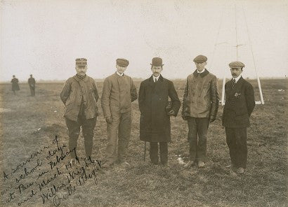 Wright Brothers signed photograph France