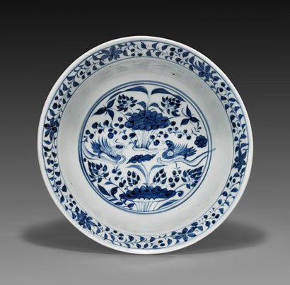 Yuan dynasty blue white porcelain bowl