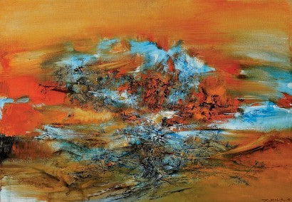 Zao Wou-ki 10-6-68 art abstract painting