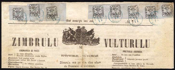 Zimbrulu_si_Vulturulu (Aurochs and Eagles - Romanian newspaper with Bull's Head stamps)