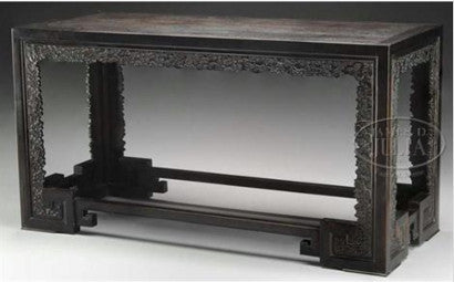 a stunning Imperial carved Zitan table410
