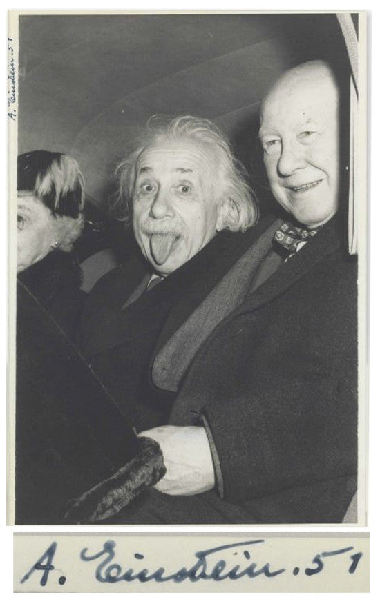 Albert Einstein tongue
