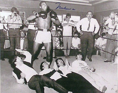 The Beatles and Muhammad Ali signed photograph