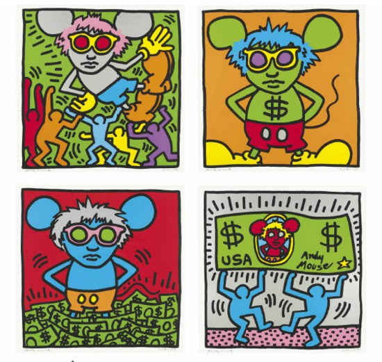 Andy Mouse Haring
