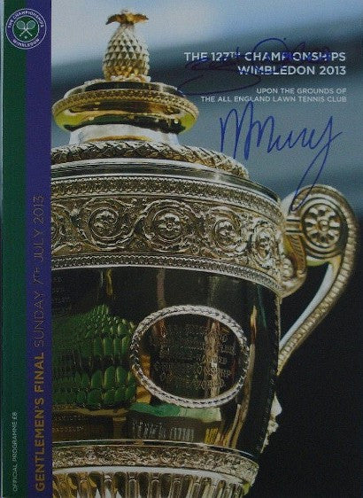 Andy Murray signed program