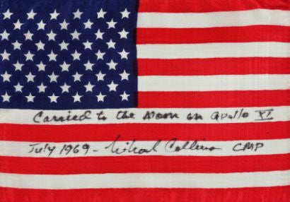 Apollo 11 space flown flag at Heritage