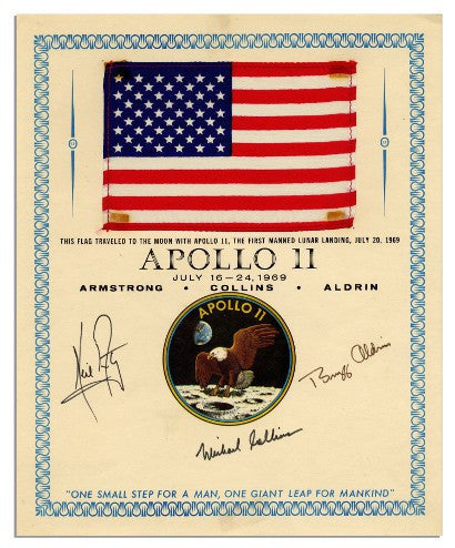 Apollo 11 signed flag