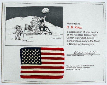 apollo-17-flown-flag-ira-larry-goldberg
