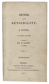 Jane Austen Sense and Sensibility first edition