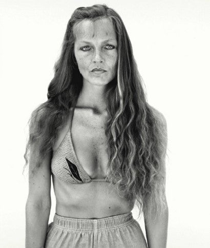 Richard Avedon's Charlene van Tighem, physical therapist, Augusta, Montana, 6-26-83