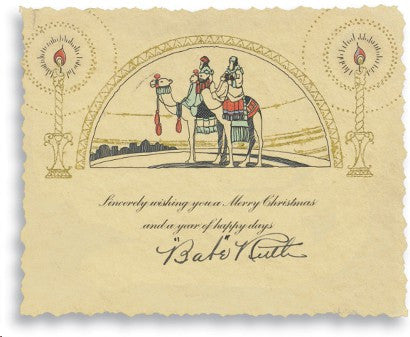 Babe Ruth Christmas card