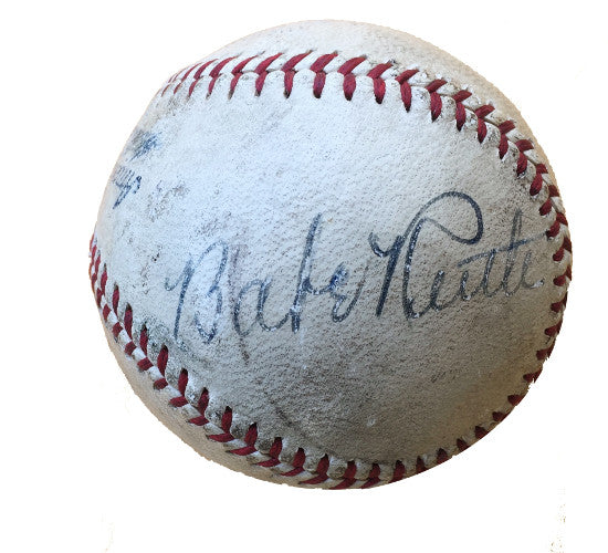Babe Ruth signed
