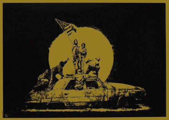 Banksy Gold Flag