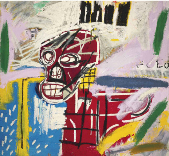 Basquiat Red Skull