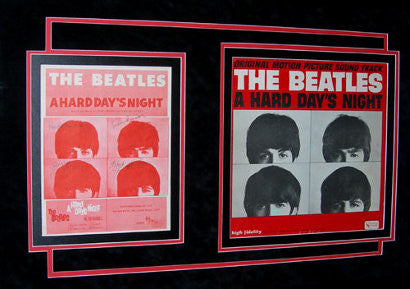 Beatles signed sheet music