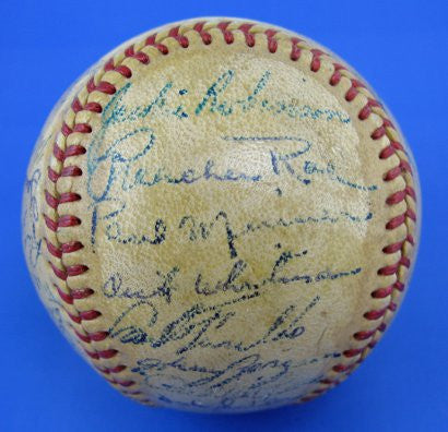 Brooklyn Dodgers 1949 autographed baseball