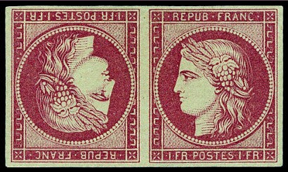 Ceres tete beche 1849 stamps