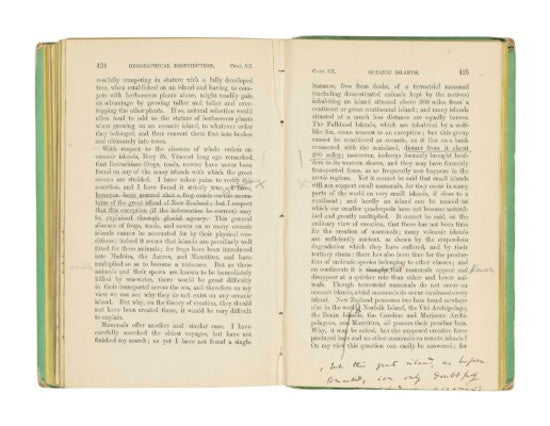 Charles Darwin annotated