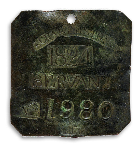 Charleston slave badge