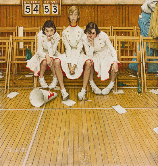Cheerleaders Norman Rockwell
