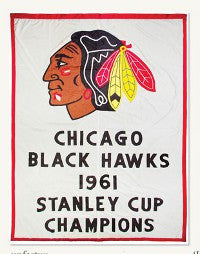 Blackhawks Stanley Cup banner auction