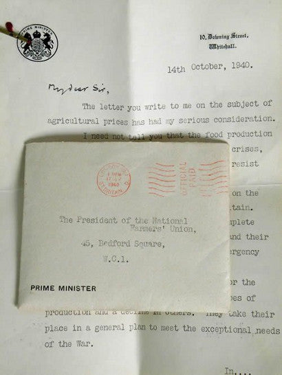 churchill-letter-national-farmers-union-auction