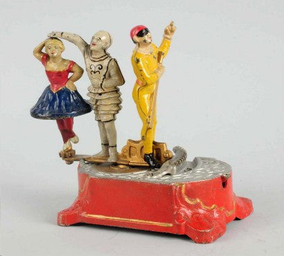 Clown Harlequin Mechanical Bank