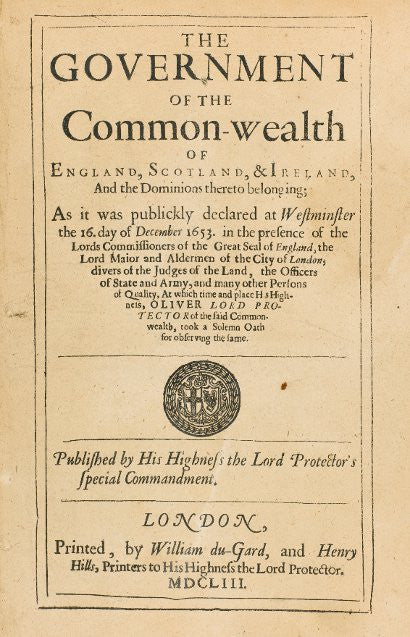 Cromwell's Instrument of Government