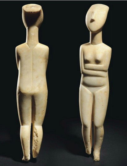 Cycladic figure statue
