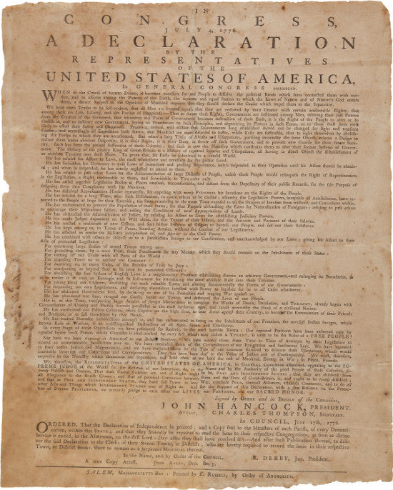 Declaration Independence Heritage