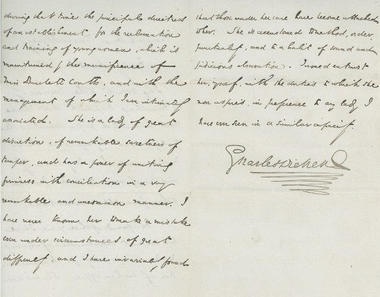 Dickens letter signed