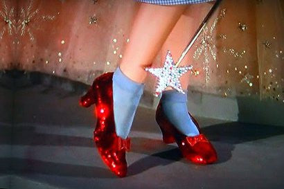 Dorothy Wizard of Oz shoes