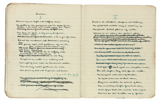 Dylan Thomas notebook