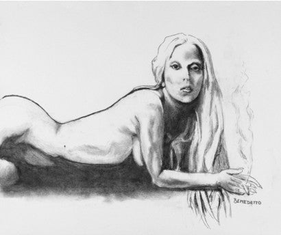 Nude sketch of Lady Gaga by Tony Bennett