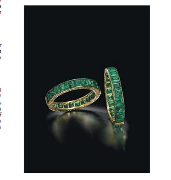emerald bracelet Christies