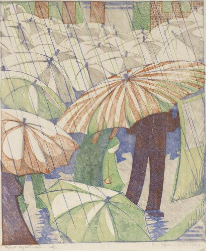 Ethel Spowers Wet Afternoon auction