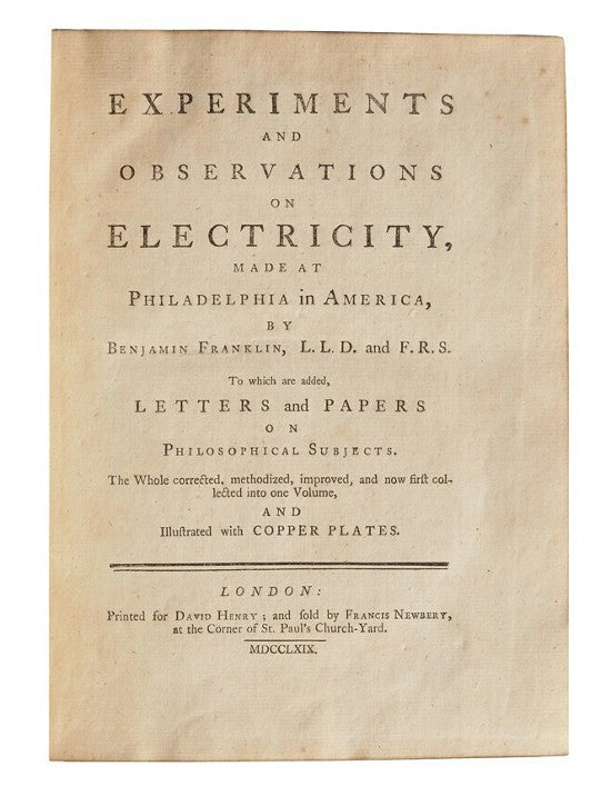 Franklin experiments electricity