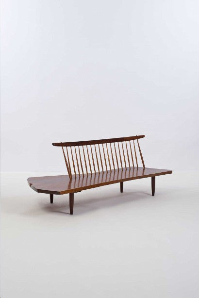 George Nakashima walnut bench