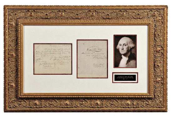 George Washington signed