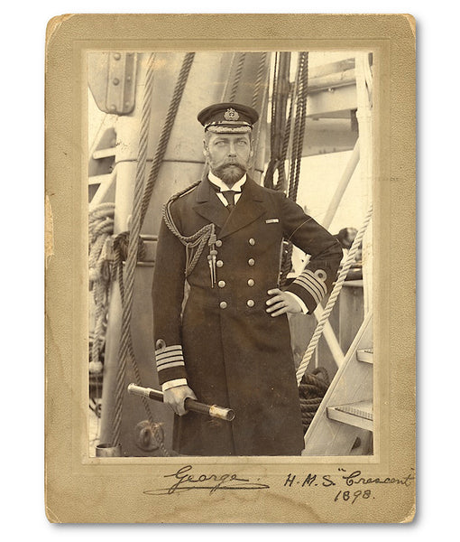 A signed photograph of King George V, dated 1898
