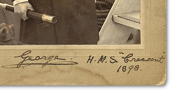 King George V's signature on a signed photograph