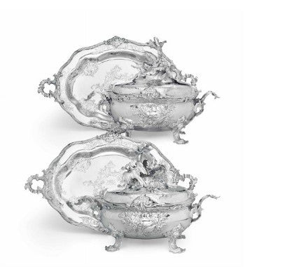 German silver soup tureens auction
