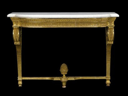 Giltwood console Louis