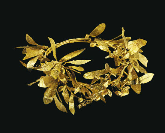 gold olive wreath