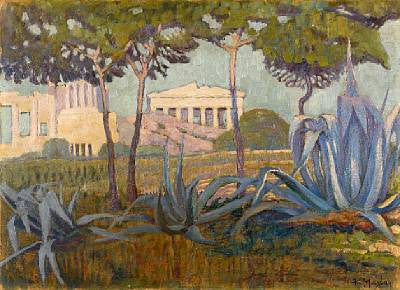 Constantinos Maleas' (1879-1928) View of the Acropolis